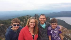 Dailey Family at Paulina Peak, Oregon, Summer 2014
